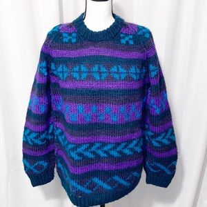 Vintage Lost Horizons Himalayan Wool Sweater